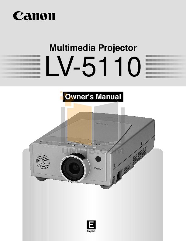 pdf for Canon Projector LV-5110 manual