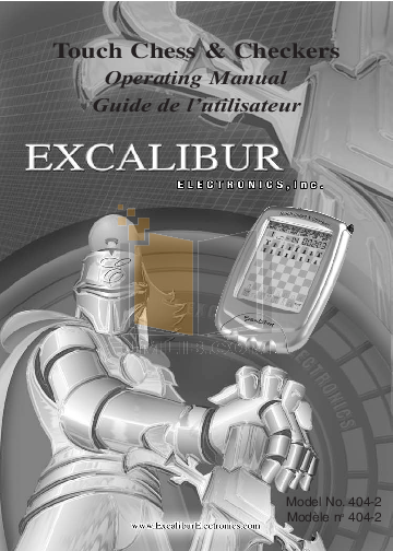 pdf for Excalibur Game Console 404-2 manual