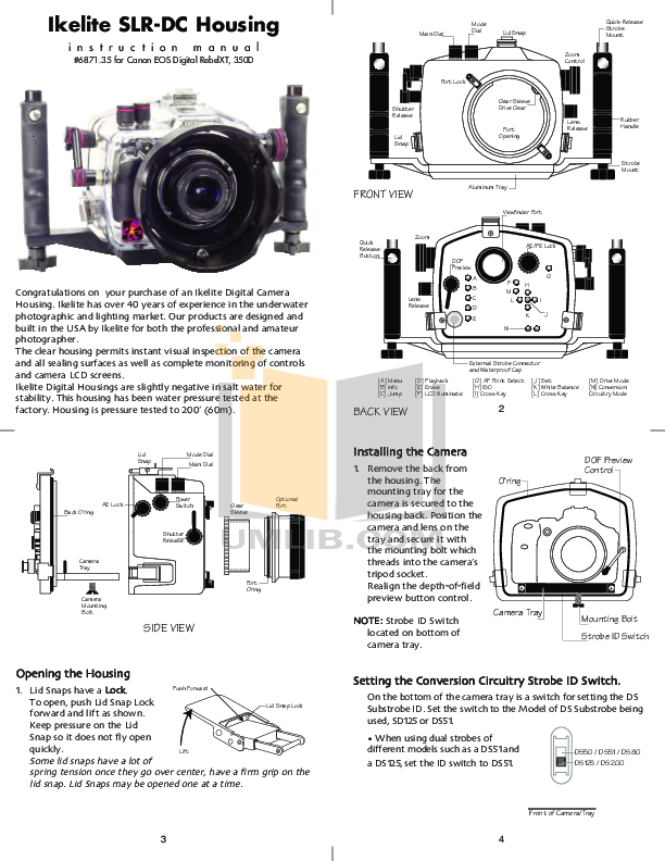 pdf for Canon Digital Camera EOS 350D manual