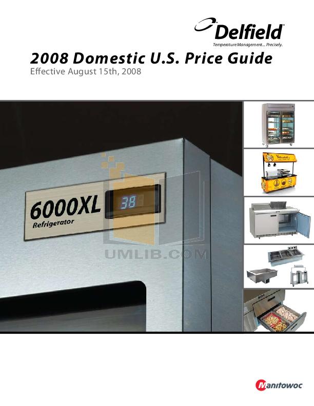 pdf for Delfield Refrigerator SADHR2-S manual