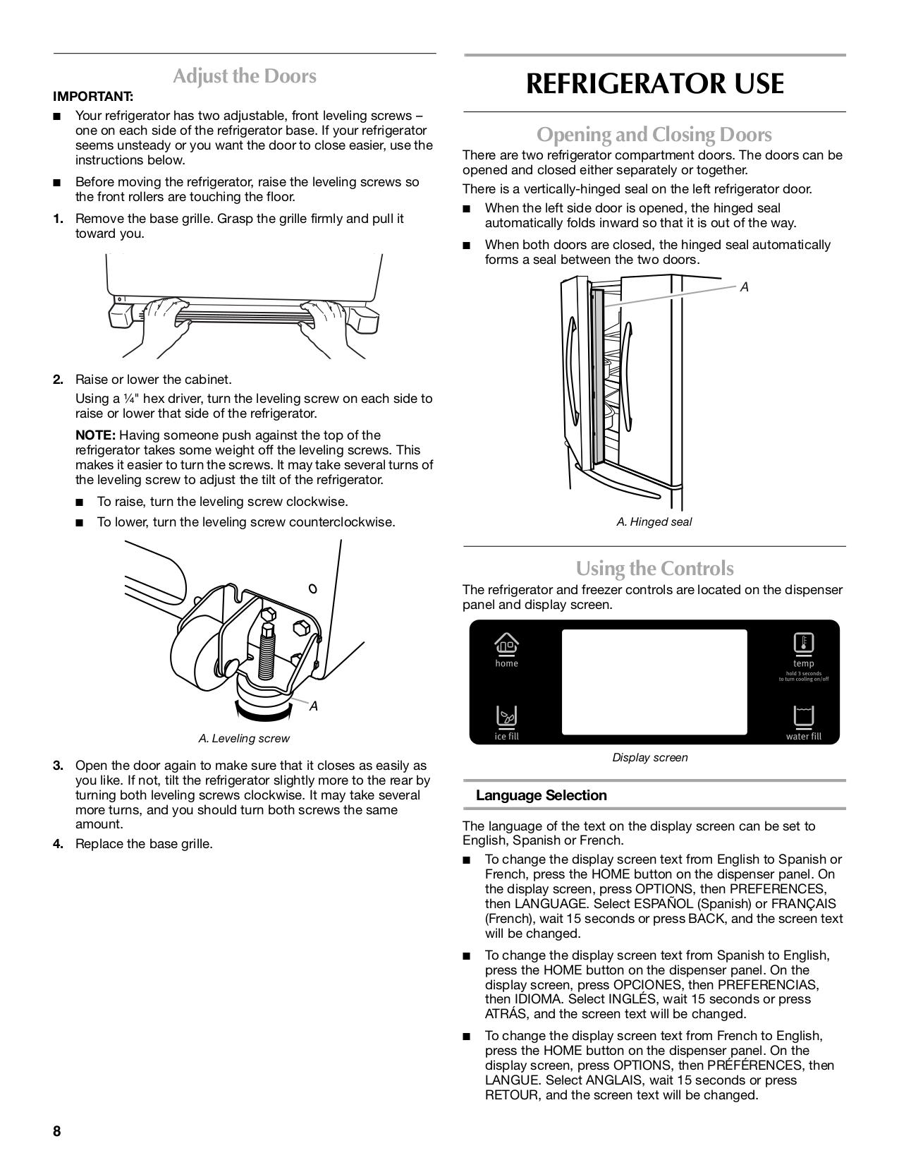 PDF manual for Maytag Refrigerator MFX2571XEM