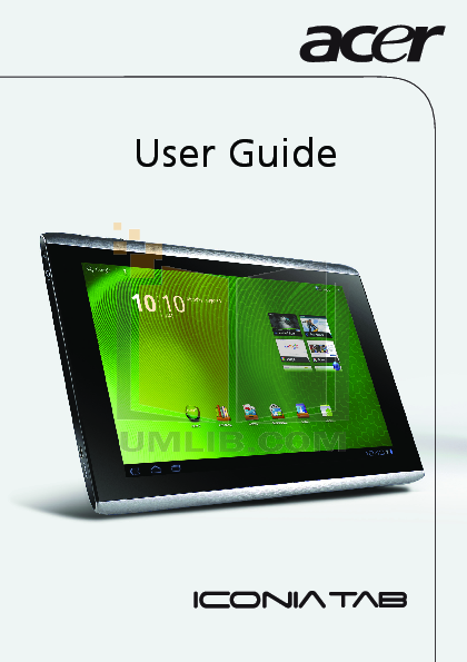 download free pdf for acer iconia tab a500 32gb tablet manual rh umlib com Acer Iconia Tablet Acer Tablet Covers