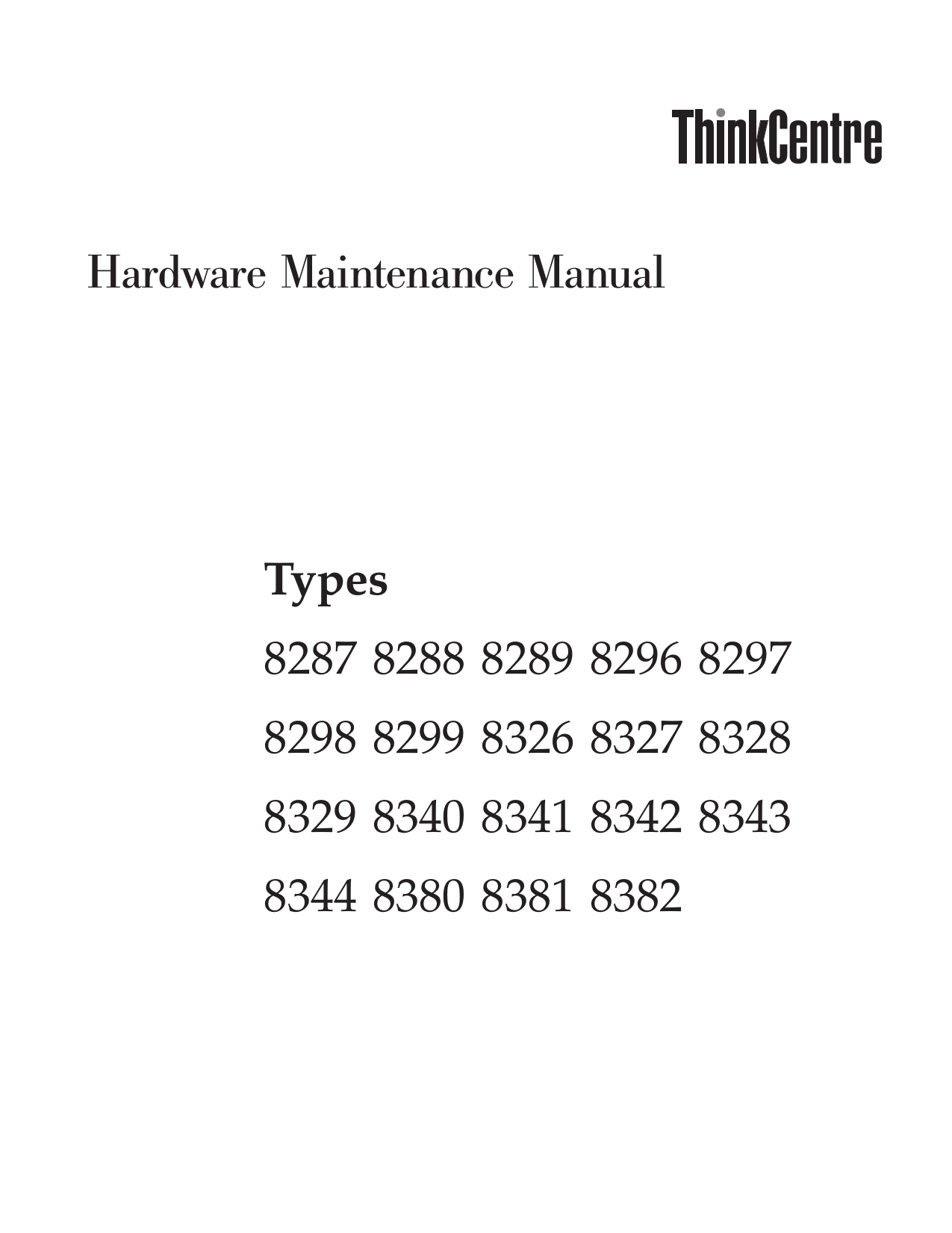 pdf for Lenovo Desktop ThinkCentre A52 8380 manual