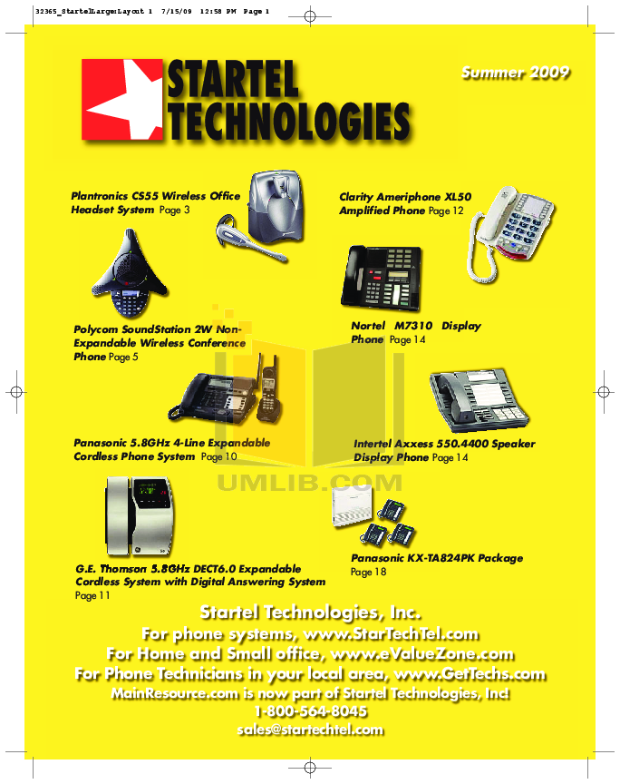pdf for Clarity Telephone C4230HS manual
