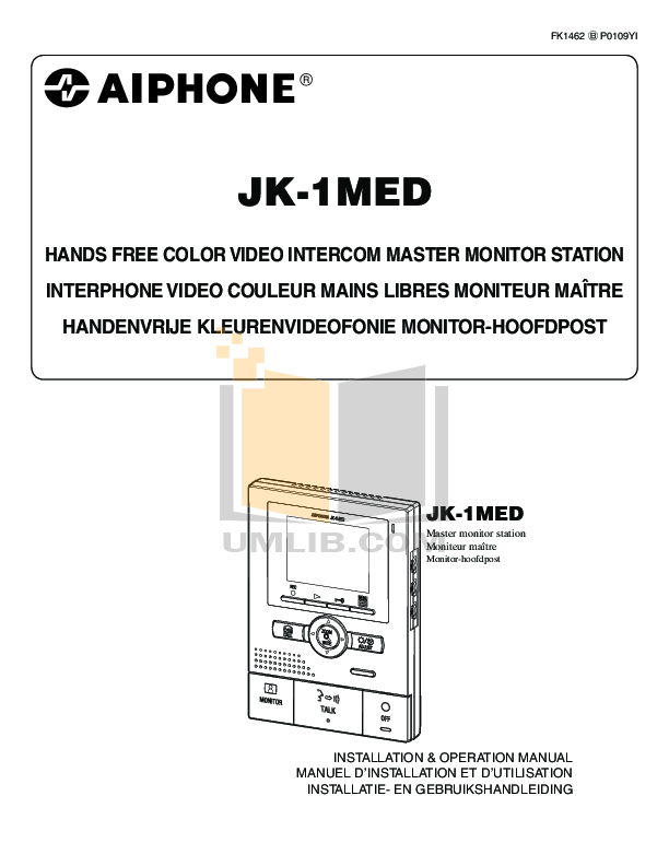 pdf for Aiphone Other JA-D Intercoms manual