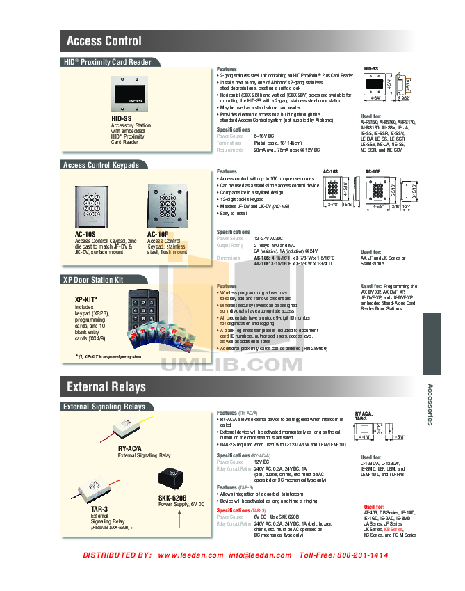 Aiphone Other LAF-10 Intercoms pdf page preview