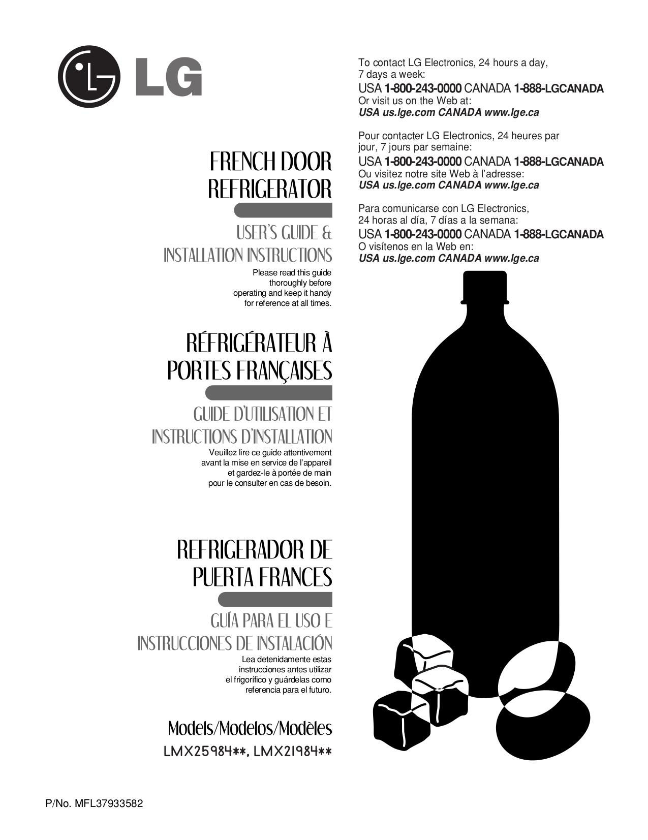 pdf for LG Refrigerator LMX25984 manual
