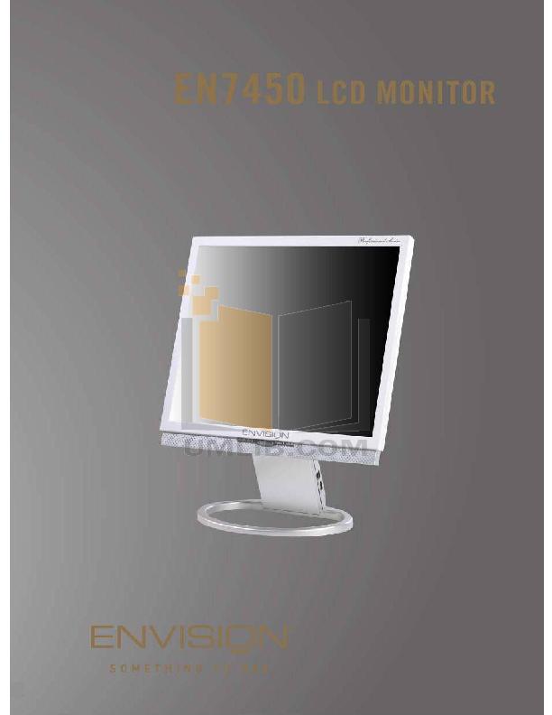 pdf for Envision Monitor EN7450 manual