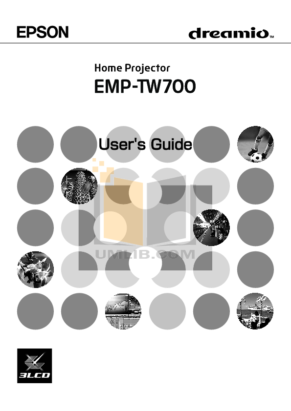 pdf for Epson Projector EMP-TW 700 manual