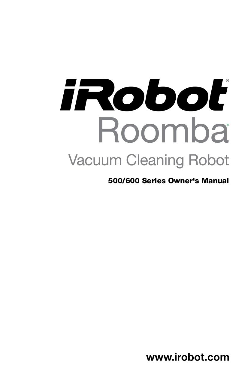 irobot roomba 550 manual pdf