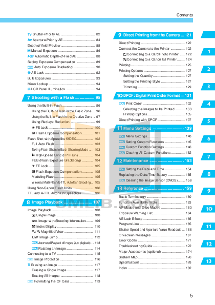 Canon Digital Camera EOS D30 pdf page preview