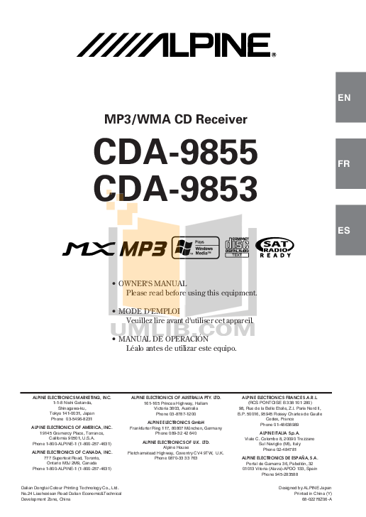 OM_CDA 9855.PDF 0 wat alpine cda 9853 wiring diagram pioneer avh x1500dvd wiring alpine cda-9805 wiring diagram at readyjetset.co