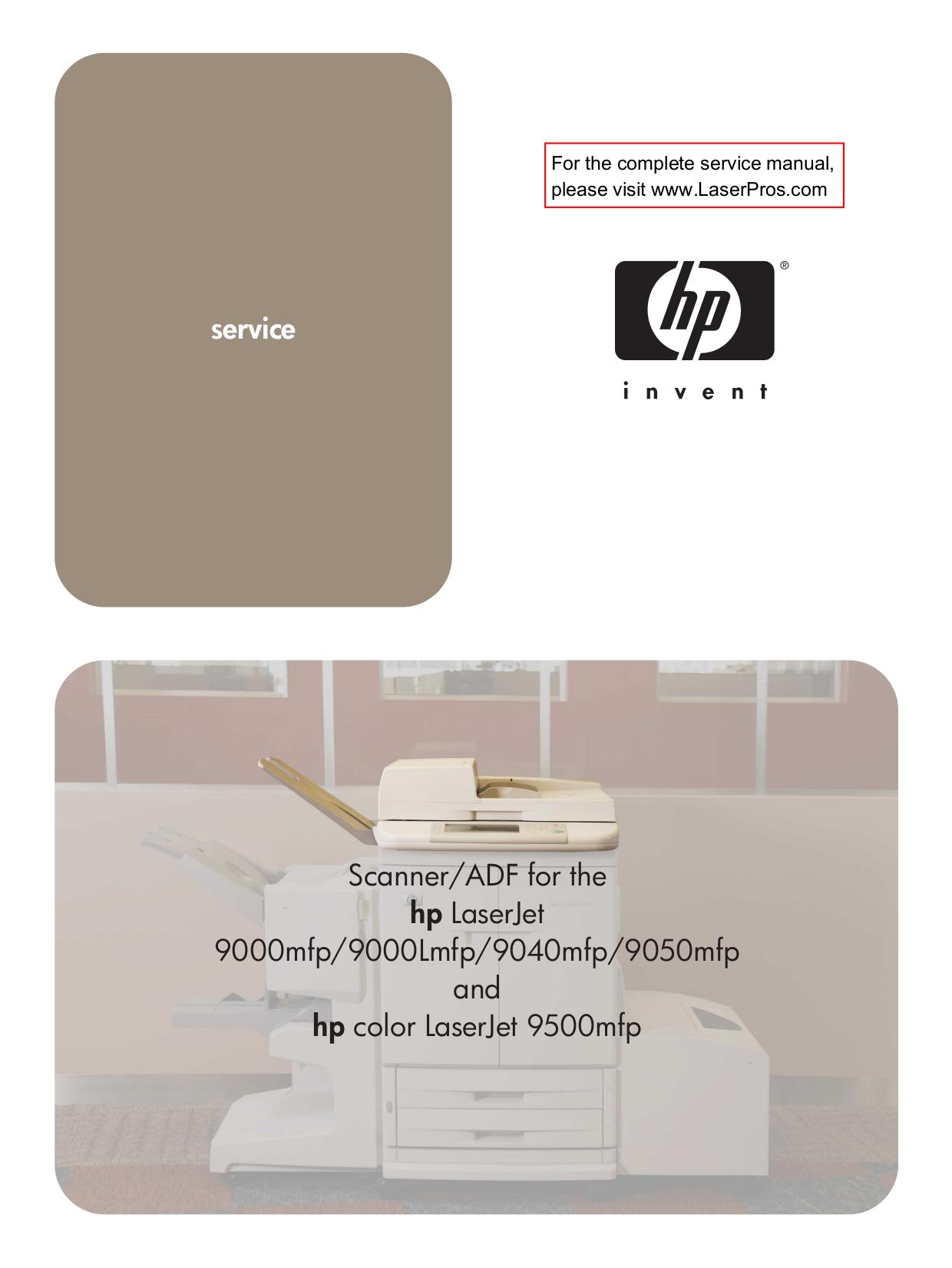 download free pdf for hp laserjet color laserjet 9050dn printer manual rh umlib com hp 9050 service manual hp 9050dn manual feed attention