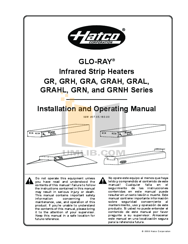 pdf for Hatco Other GR-60 manual