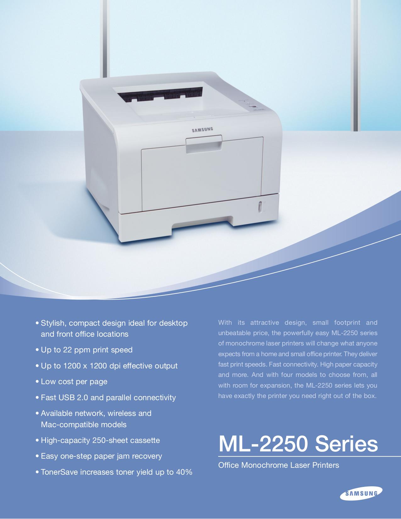 pdf for Samsung Printer ML-2251N manual