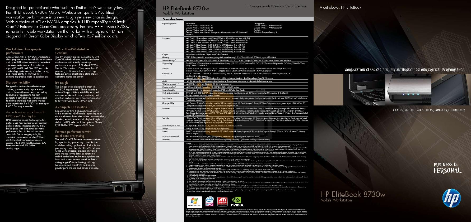 pdf for HP Laptop EliteBook 8730w manual