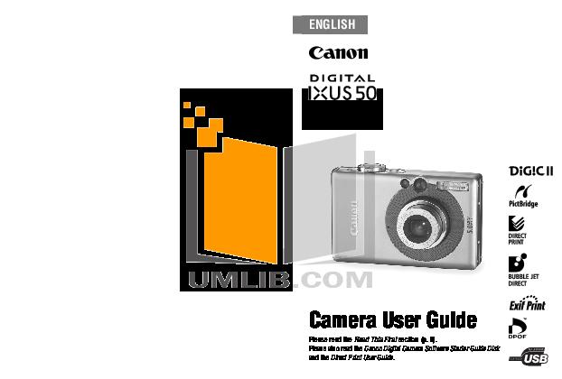 pdf for Canon Digital Camera IXUS 800 IS manual