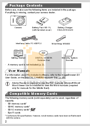 Canon Digital Camera IXUS 800 IS pdf page preview