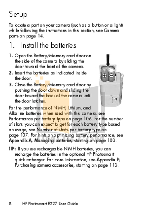 HP Digital Camera Photosmart E327 pdf page preview