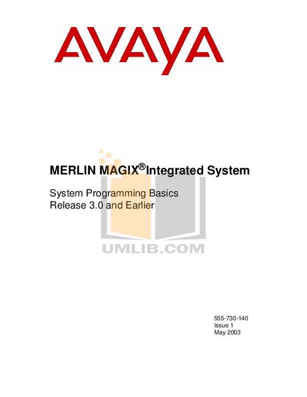 Avaya Telephone MLX10 pdf page preview