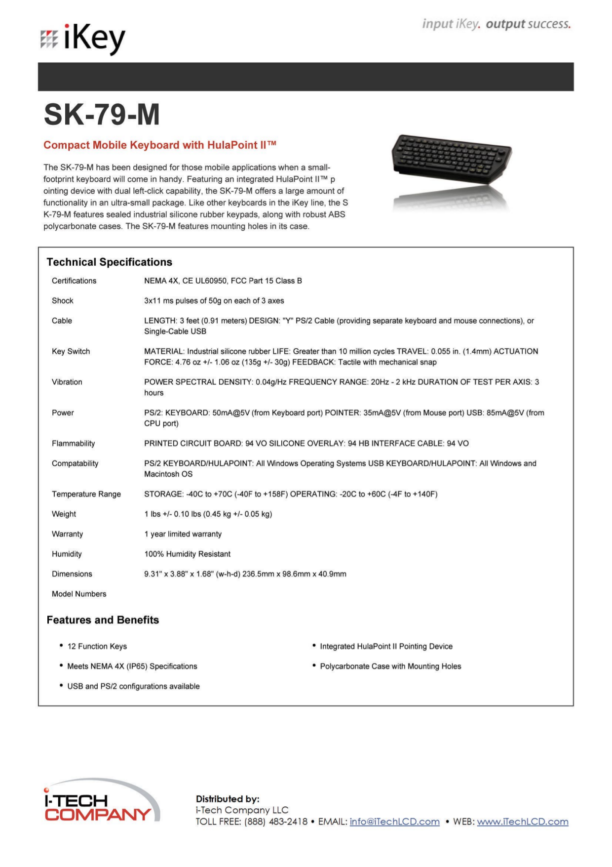 pdf for iKey Keyboard SK-79 manual