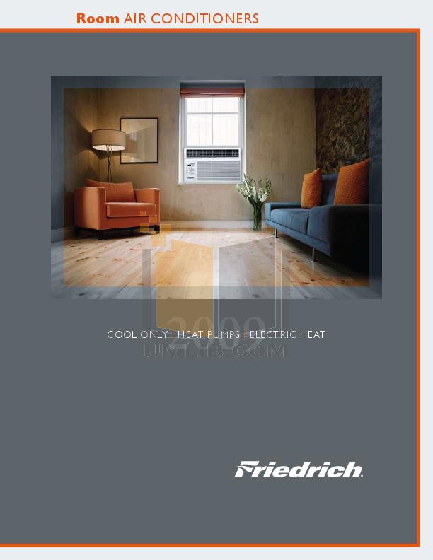 friedrich quietmaster air conditioner manual