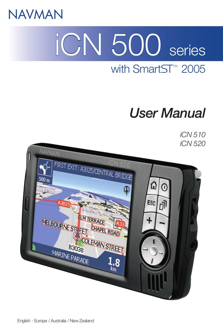 pdf for Navman GPS iCN520 manual