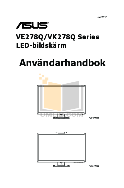 pdf for Asus Monitor VE278Q manual