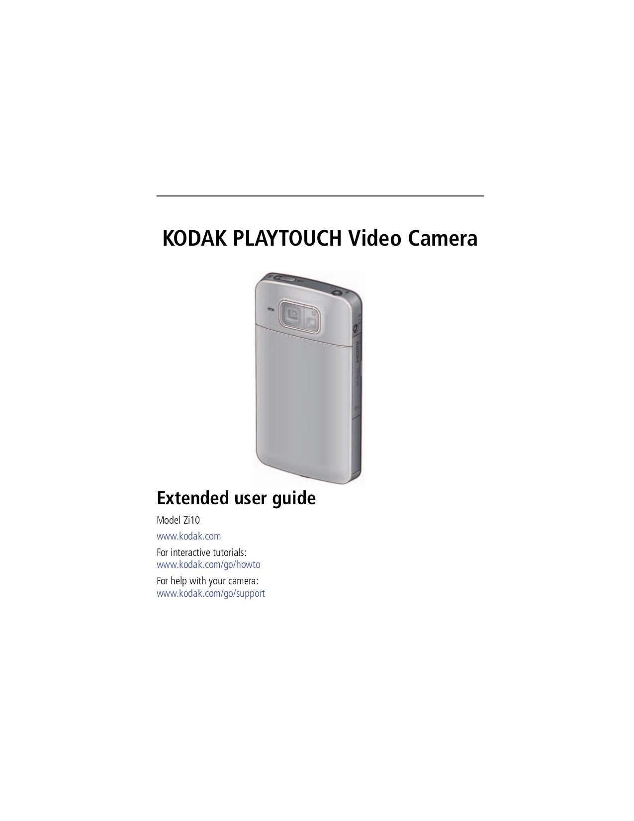 pdf for Kodak Camcorders Mini HD manual