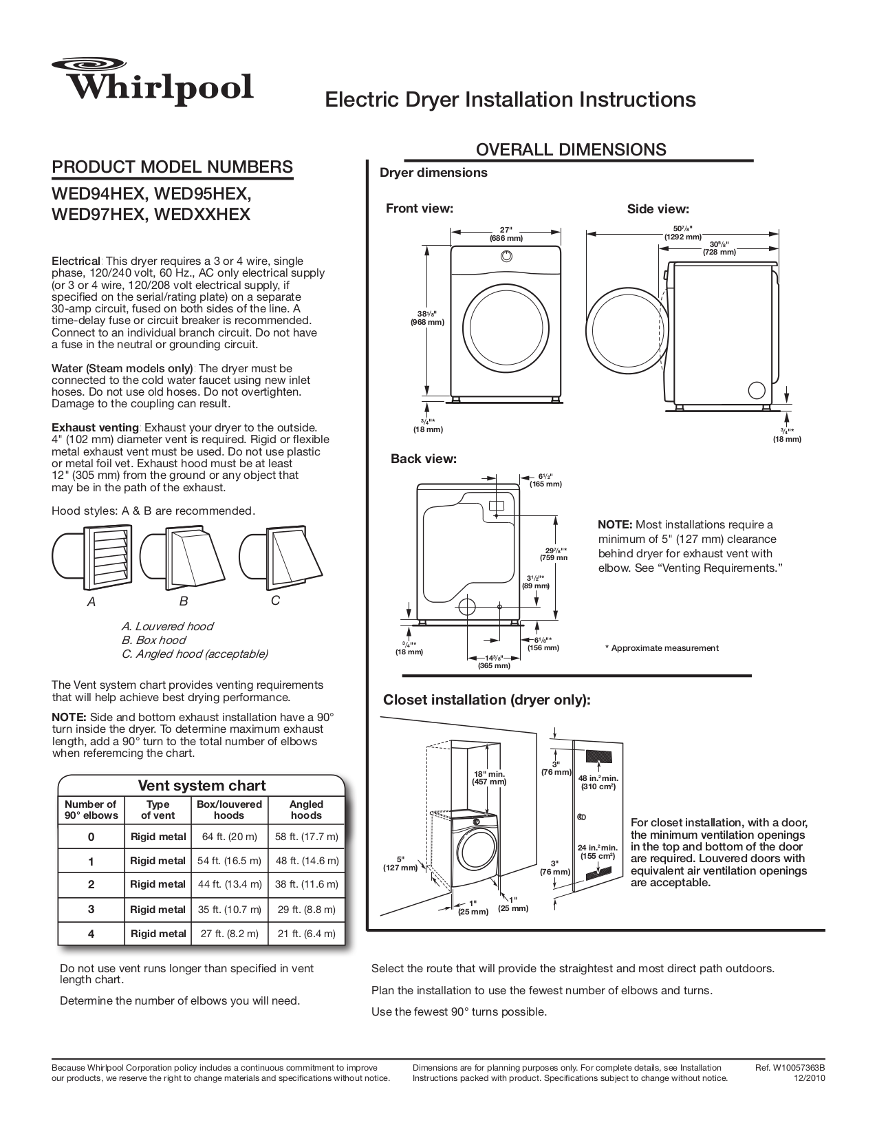 Whirlpool Dryer Manual Free Download Senseon Wiring Diagram Pdf For Duet Steam Wed97hex
