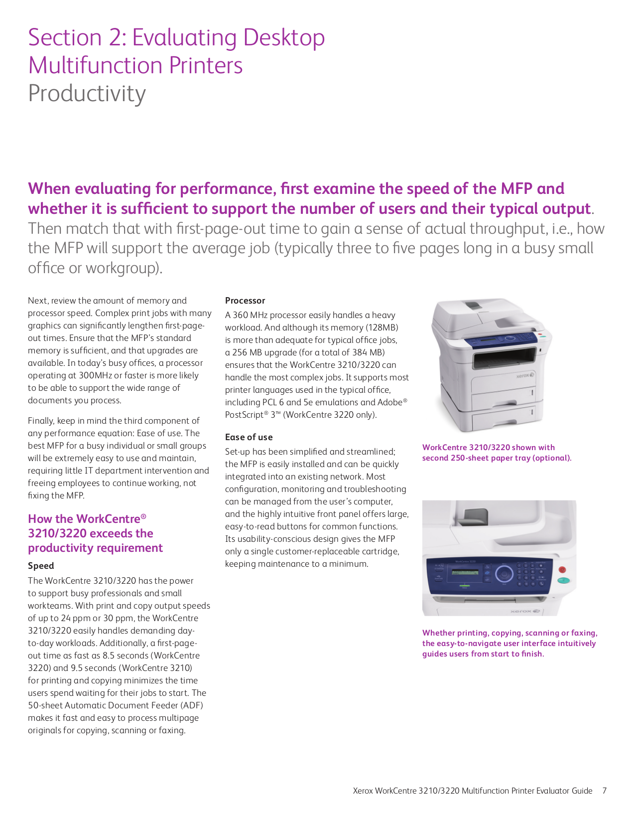 PDF manual for Xerox Multifunction Printer WorkCentre 3210