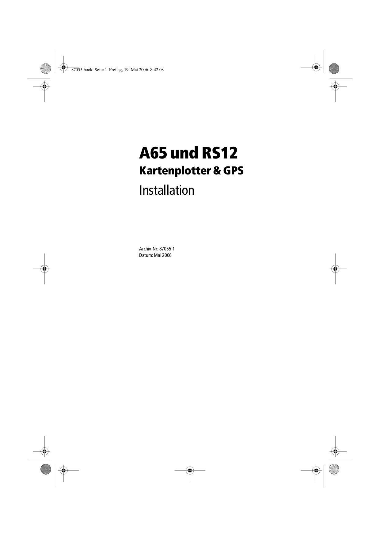 pdf for Raymarine GPS L470 manual