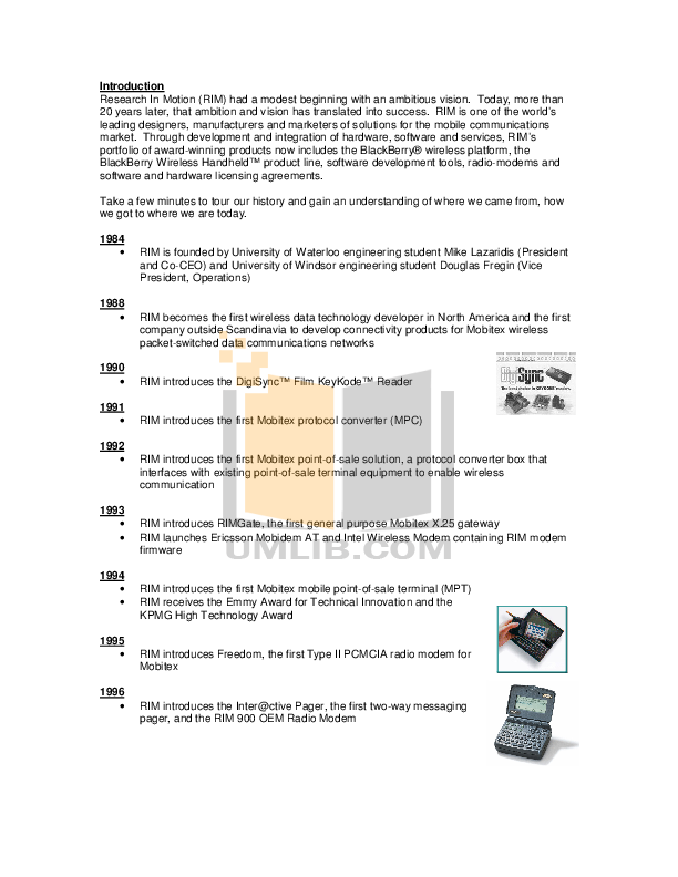 pdf for Blackberry Cell Phone 6710 manual