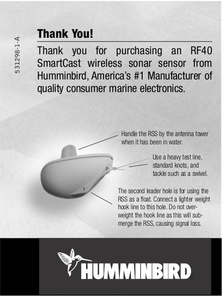 pdf for Humminbird GPS RF40 manual
