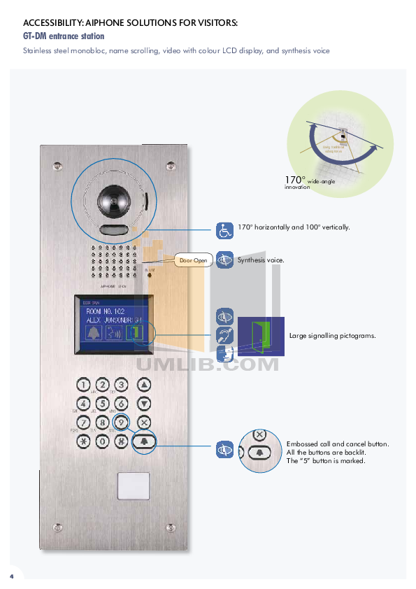 Aiphone Other GF-3B Intercoms pdf page preview