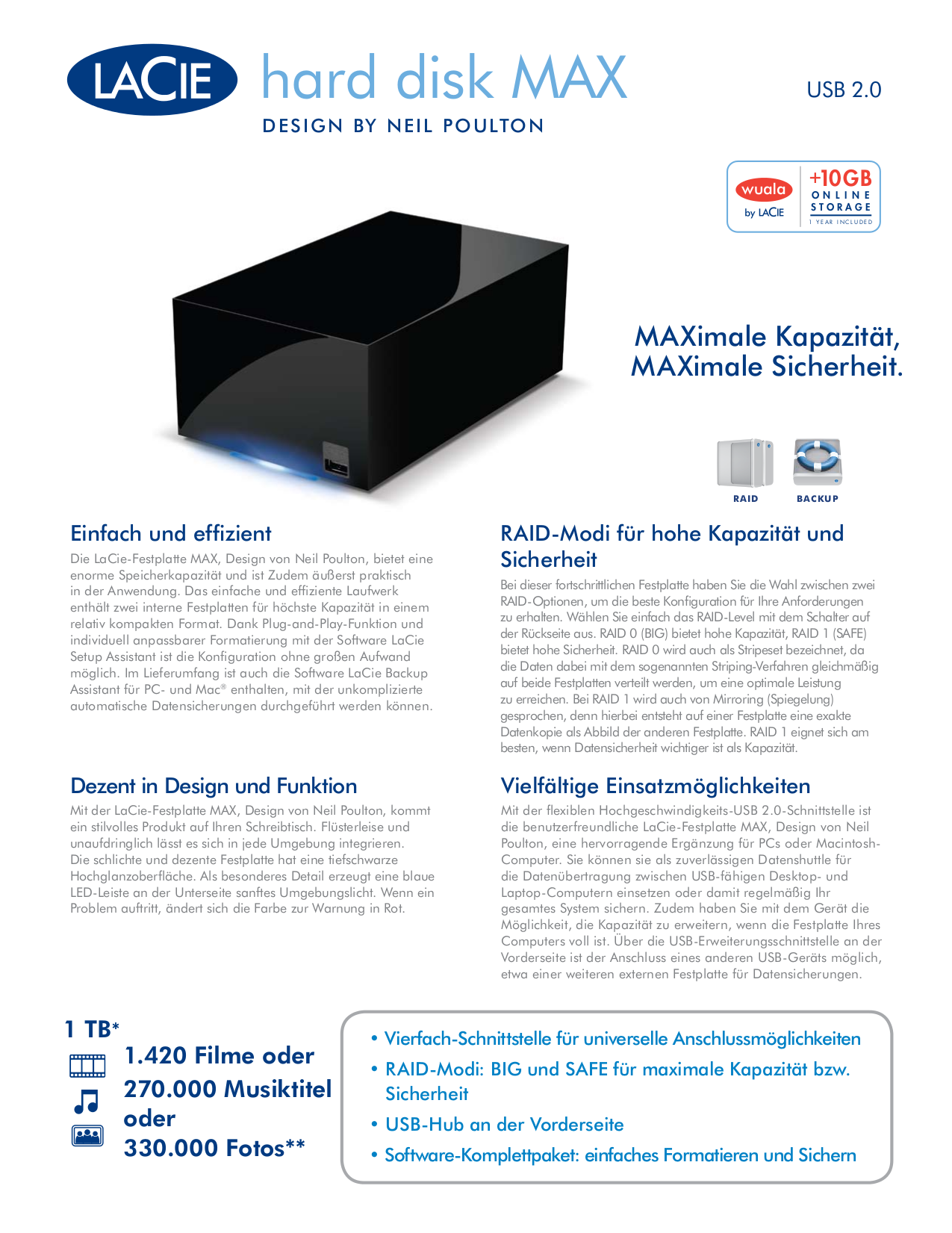 pdf for LaCie Storage 301838U manual