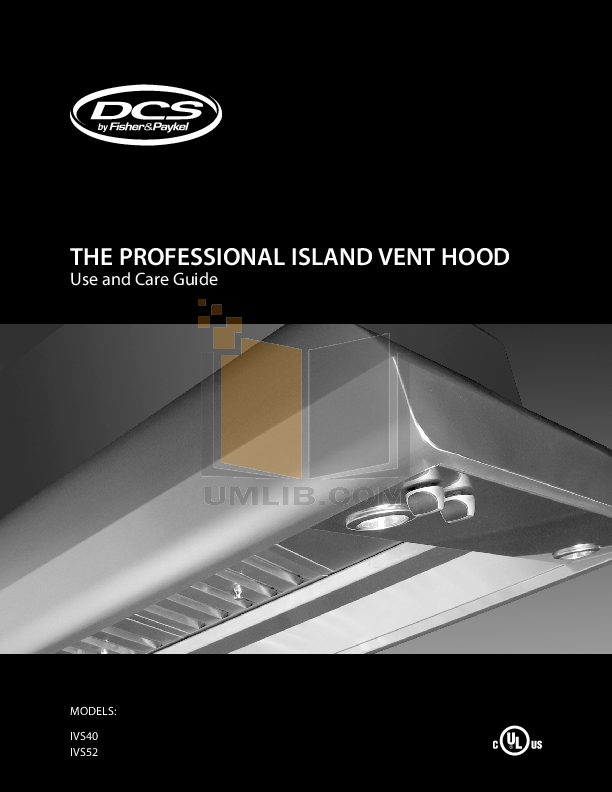pdf for DCS Other IVS52 Hood manual