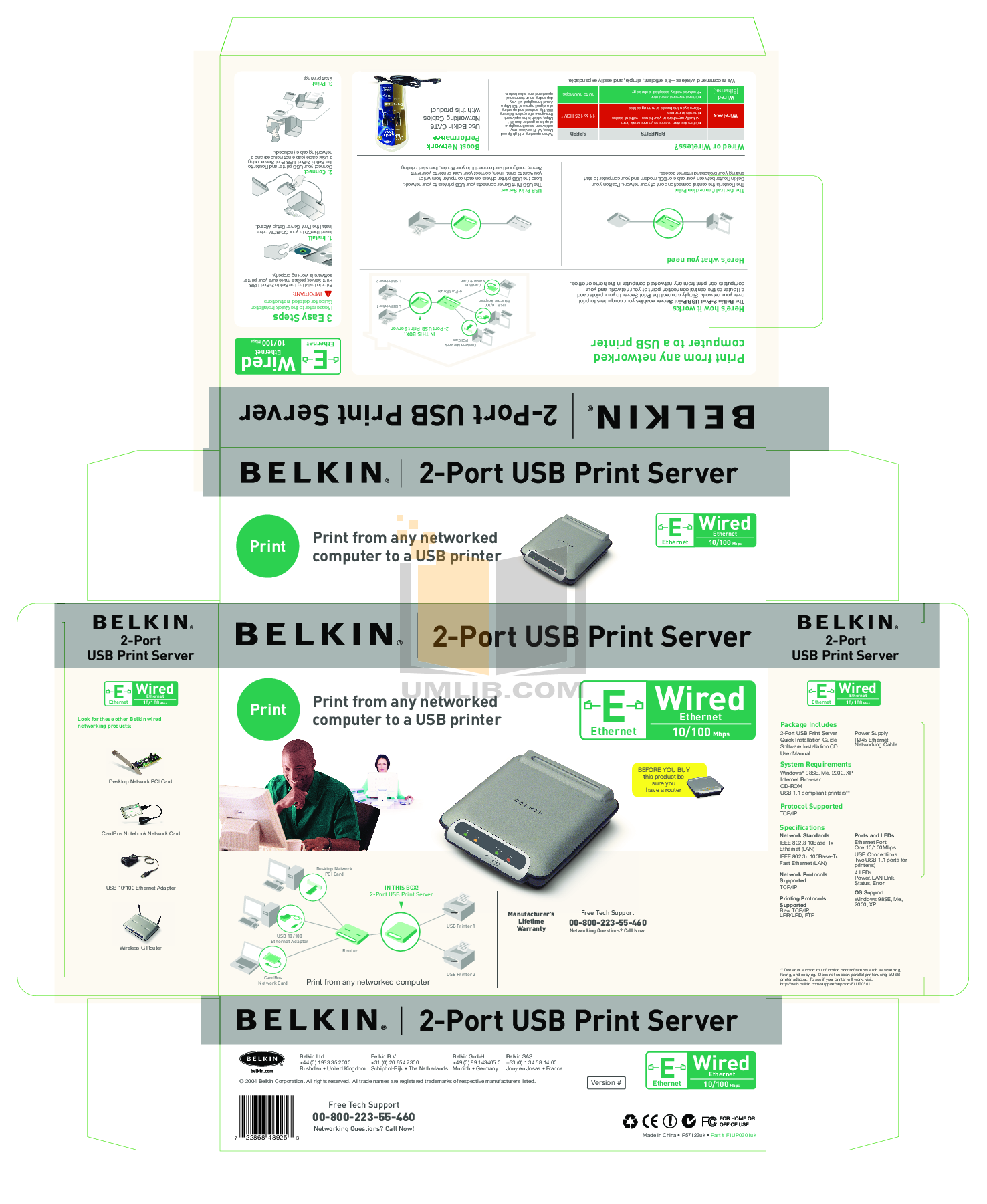pdf for Belkin Router F1UP0301 manual