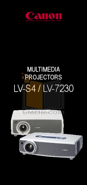 pdf for Canon Projector LV-7230 manual