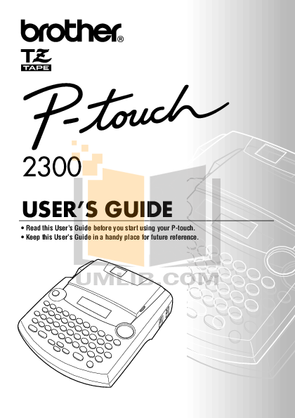 pdf for Brother Printer PT-2310 manual