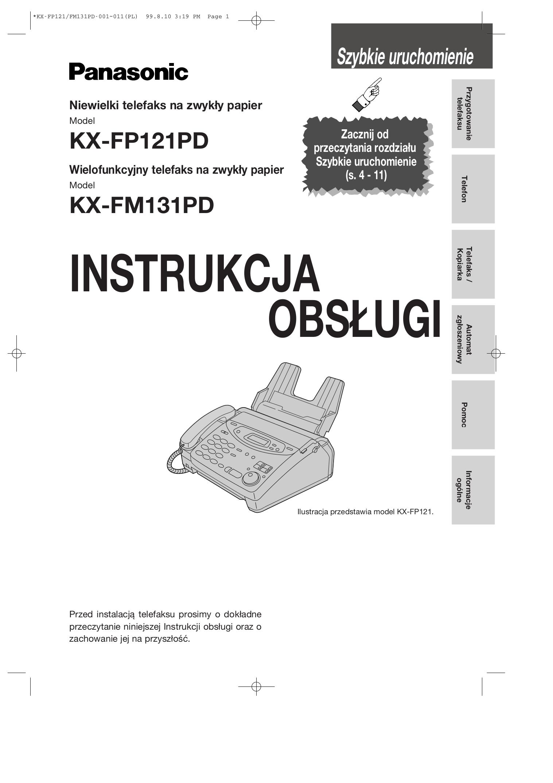 download free pdf for panasonic kx fp121 fax machine manual rh umlib com Panasonic Fax Machines Models Panasonic Kx Fl511 Manual