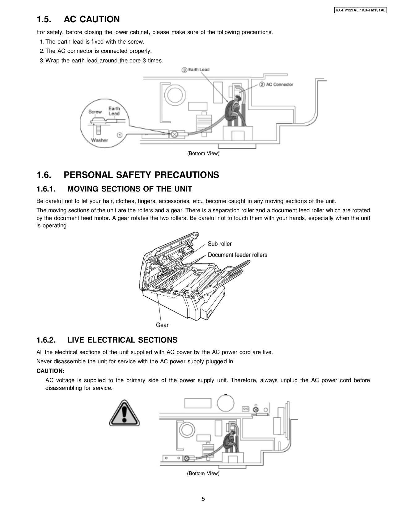 pdf manual for panasonic fax machine kx fp121 rh umlib com Fax Machine Panasonic Kx FA Panasonic Kx Fl511 Manual