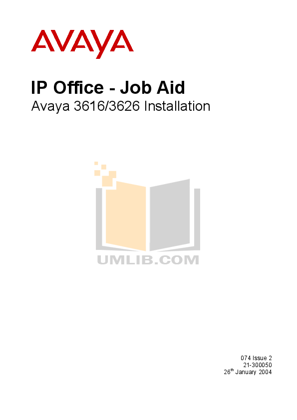 pdf for Avaya Telephone 3616 manual