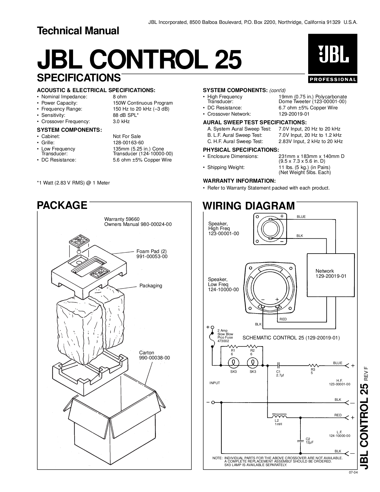 Jbl Control 25 Wiring Diagram Simple Diagrams Blue White Red Black Phone Free Download Post In Wall Pdf For