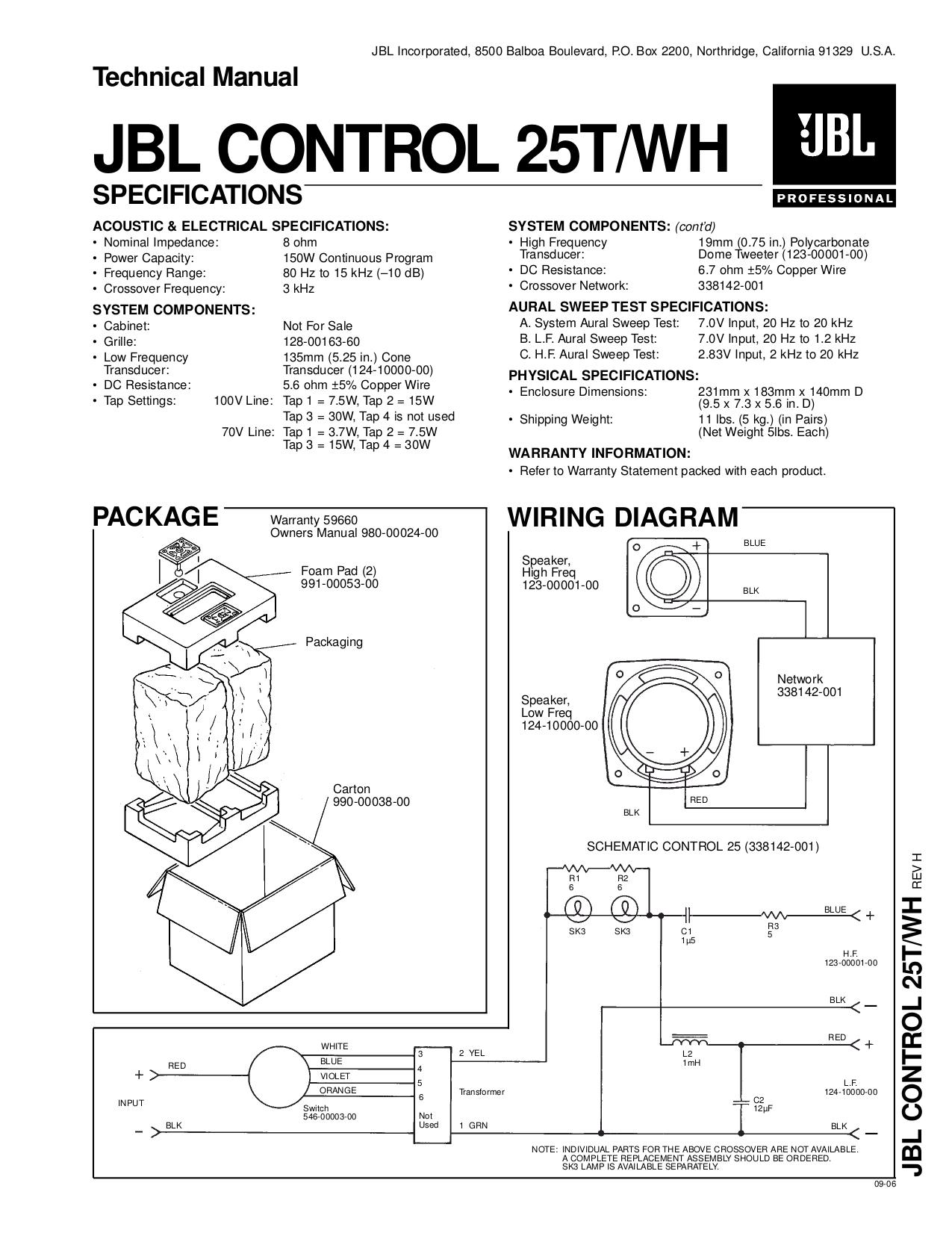 download free pdf for jbl control control 25 speaker manual rh umlib com JBL Control 25Av Manual JBL Control 28 Subwoofer