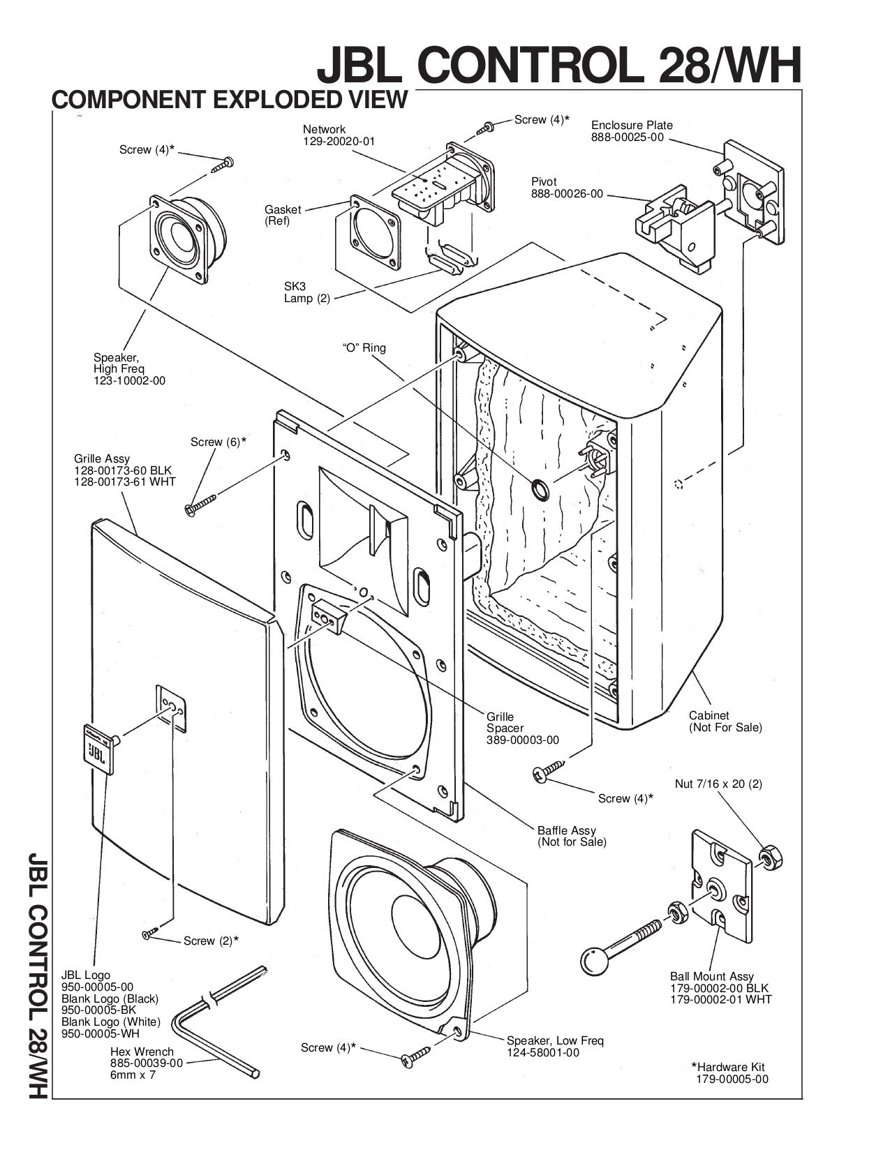 Jbl Control 25 Wiring Diagram Data Exterior Enclosures Pdf Manual For Speaker Altec