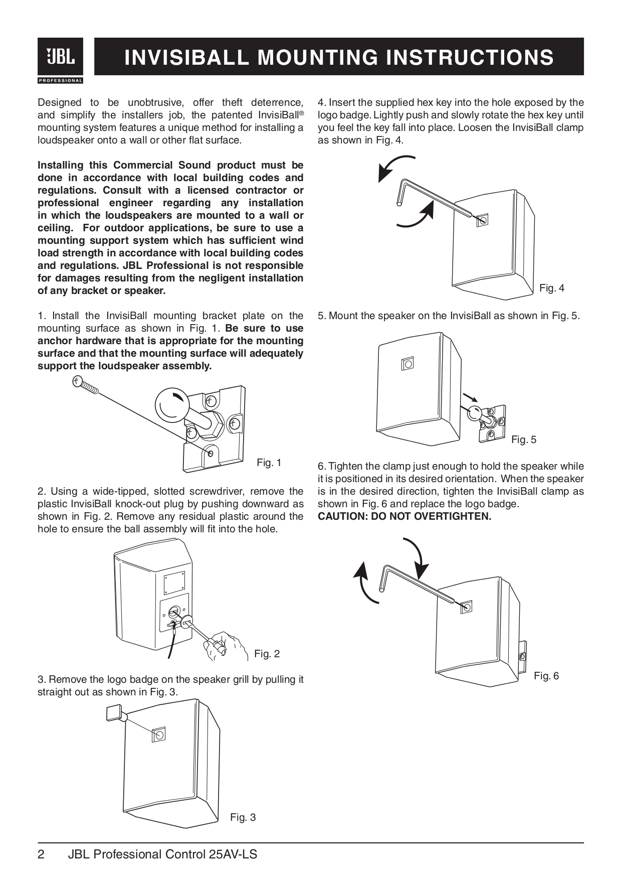 Pdf Manual For Jbl Speaker Control Control 25