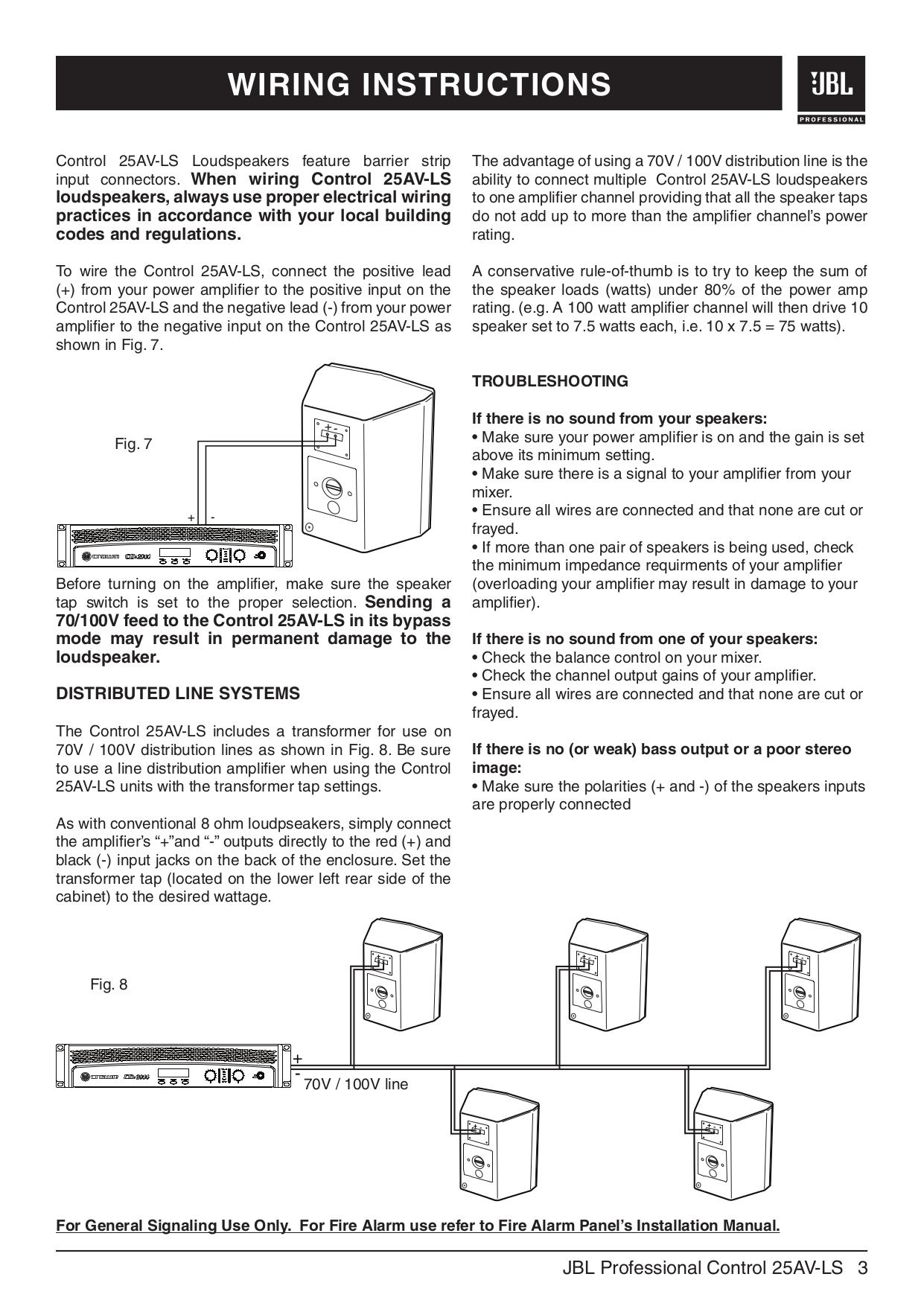 pdf manual for jbl speaker control control 25 rh umlib com JBL Control 25 Owner's Manual JBL Control 25Av Manual