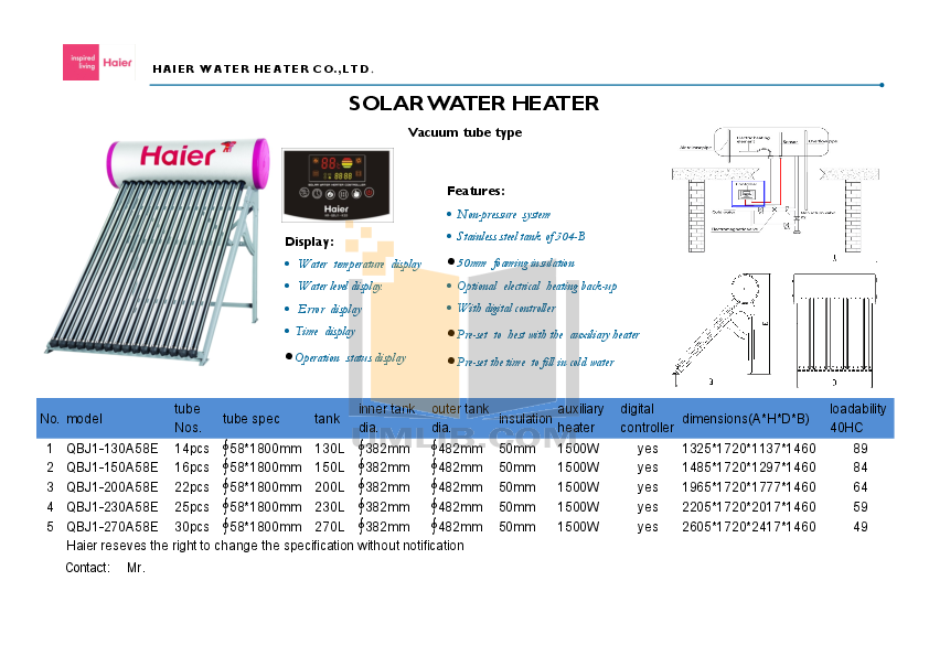 heir water heater