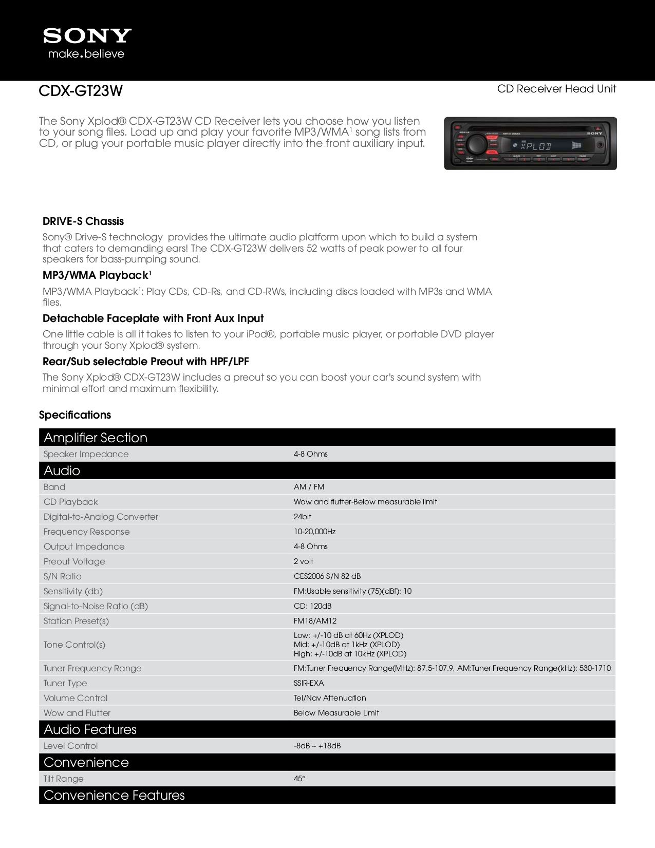 download free pdf for sony xplod cdx gt23w car receiver manual rh umlib com